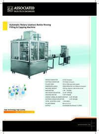 Auto Rinsing Filling Capping Machine