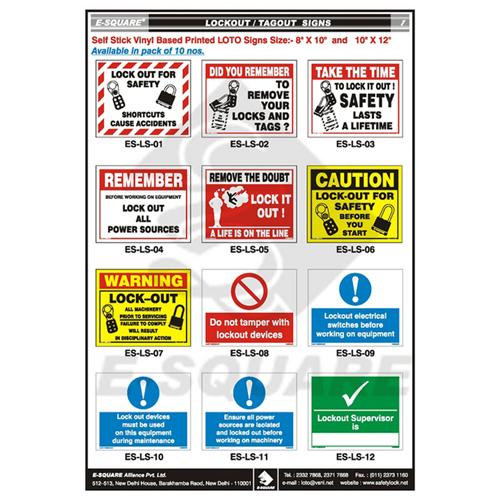Tagout Signs