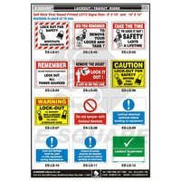 Tagout Signs