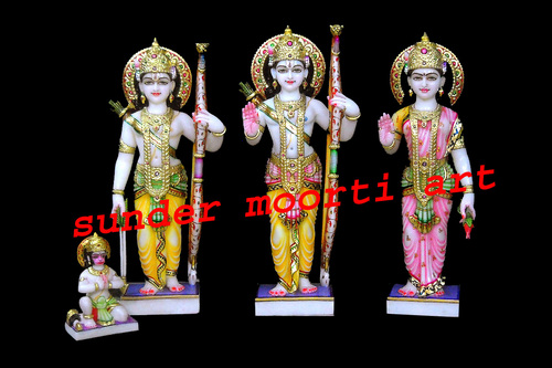 Makrana Marble Ram Pariwar Statue