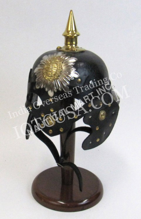Leather Viking Mask German Helmet