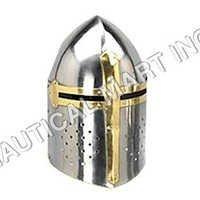 Benzara Metal Crusader Helmet