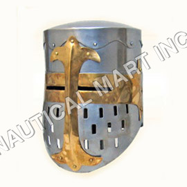 Vintage Iron Medieval Templar Helmet
