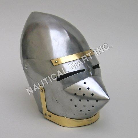 Armor Medieval Pigface Bascinet Helmet