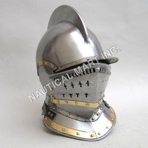 Armor Medieval Roman Bergonet knight Helmet