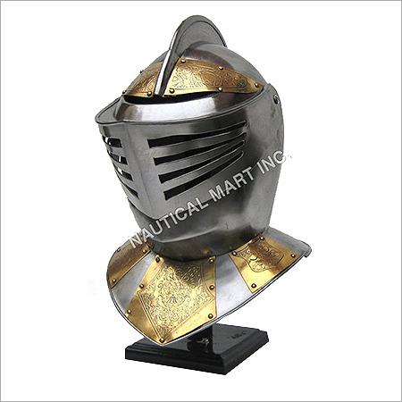 Armor Medieval Golden Knight Helmet