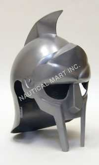 Armor Gladiator Silver Helmet