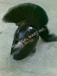 Armor Black Troy Helmet With Black Plume