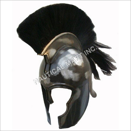 Armor Steel Trojan Helmet with Black Plume