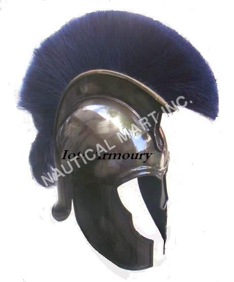 Armor Trojan Helmet With Blue Plume