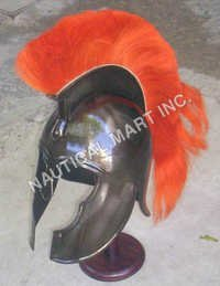 Red Corinthian Style Achilles Trojan Helmet