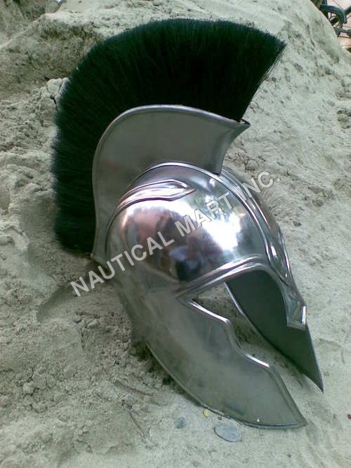 Trojan War Helmet With Black Plume