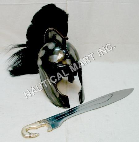 Troy Helmet With Sword
