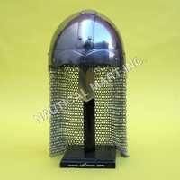Norman Nasal Helmet With Chain Mail Guard