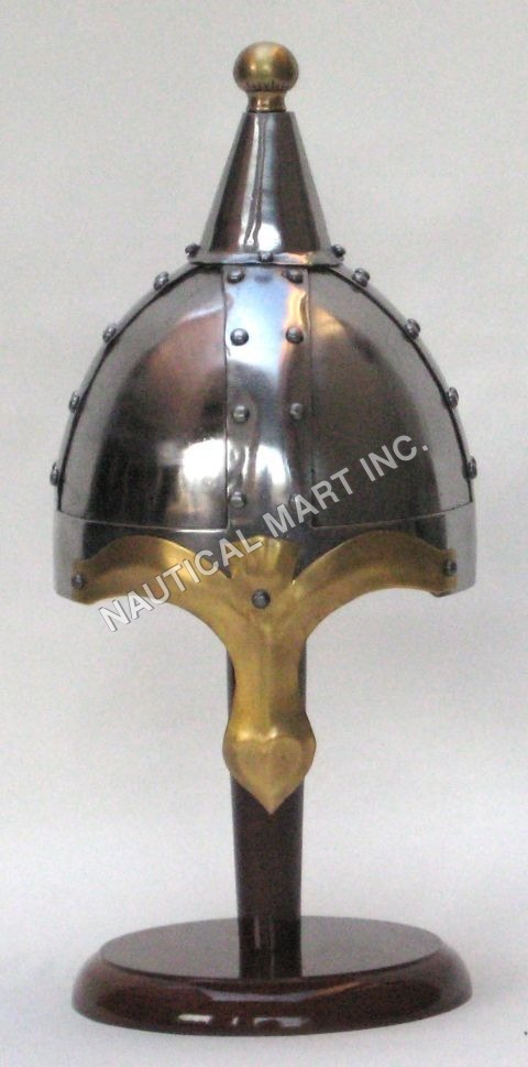 Brown Norman Armon Helmet with Top
