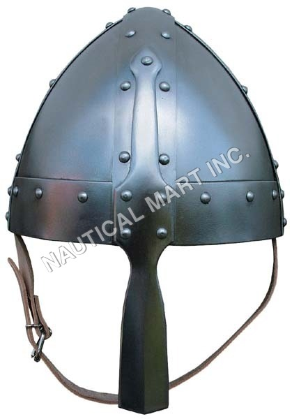 Norman Fight Armor Helmet With Leather Strip