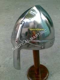 Stainless steel Norman Helmet