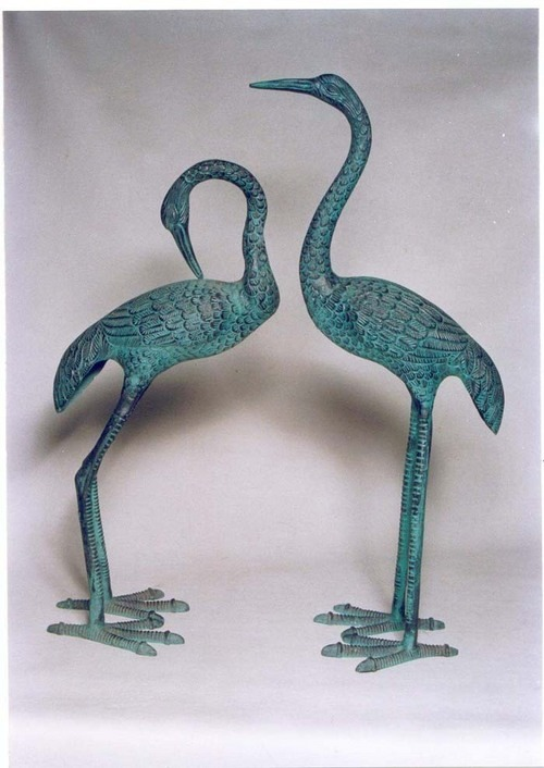Aluminium Crane Pair for Garden Decoration