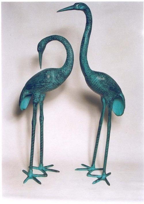 Garden Decor Crane Pair
