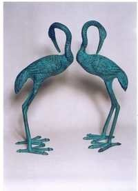 Aluminium Crane Pair Sculpture