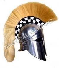 ARMOUR CORINTHIAN HELMET WITH PLUME  ADULT SIZE