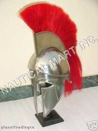 ARMOUR HELMET CORINTHIAN WITH RED PLUME ADULT SI