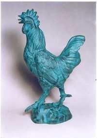 Aluminium Cock Statue
