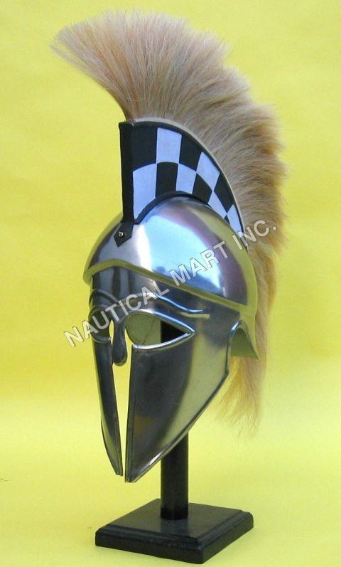 Armor Helmet Corinthian With Plume