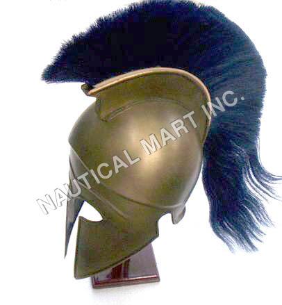 ARMOR CORINTHIAN HELMET WITH PLUME ADULT SIZE