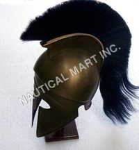CORINTHIAN HELMET WITH PLUME ADULT SIZE