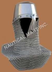 Norman's King Helmet with Chain mail