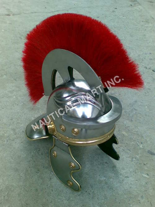 Red Plume Roman Helmet