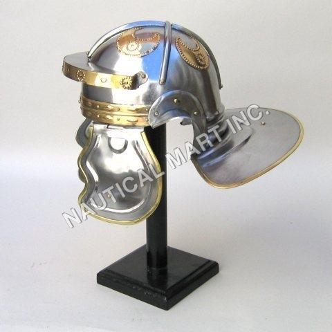 ARMOUR HELMET ROMAN GUARD IMPERIAL  ITALIC  ADULT SIZE