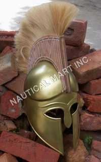 ARMOUR HELMET SPARTON BRASS  FINISH ADULT SIZE