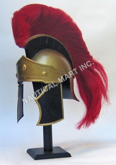 Greco Roman Helmet Red Plume