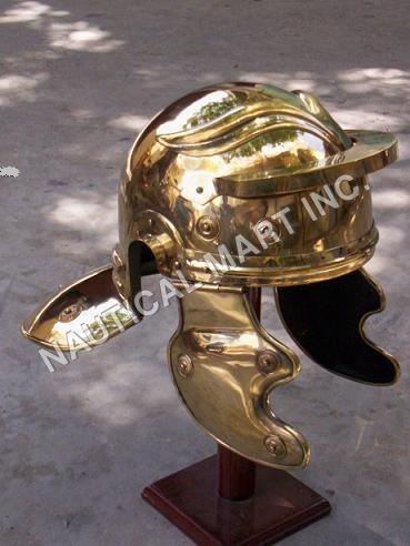 Brass Roman Armor Helmet