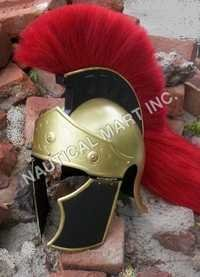 Armour Helmet Greeco Roman Red Wrest Adult Size