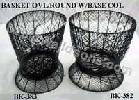 Oval Basket Wire Black