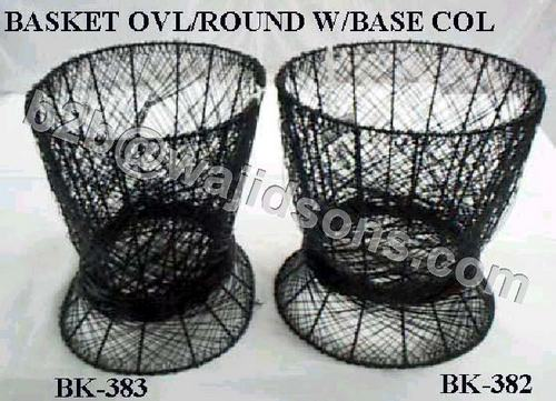 Oval Basket Wire Black