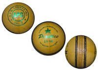 Yelow Leather Cricket Ball