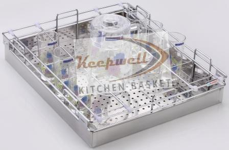 Glass Perforated kitchen Basket