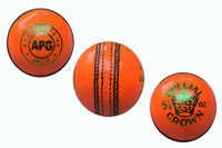 Orange Cricket Leather Ball