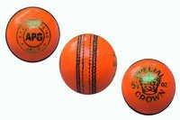 Orange Cricket Leather Ball