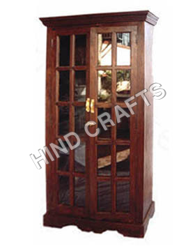 Wooden Almirah With Glass