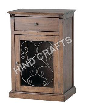 Wooden Jali Bedside