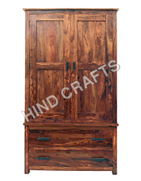 Wooden Wardrobe with Drawer