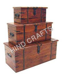 Wooden Box Set Of Three