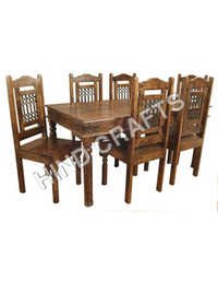 Wooden Dining Table With Chair Set