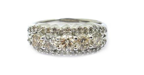 Engagement Diamond White Gold Rings