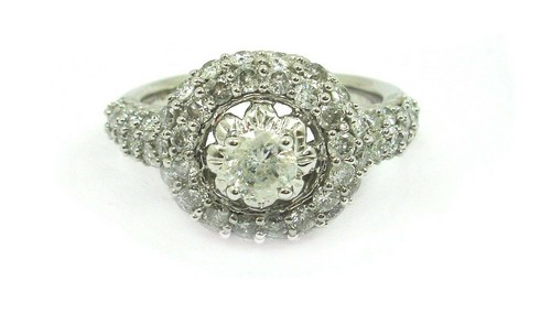 White Gold Round Diamond Wedding Ring